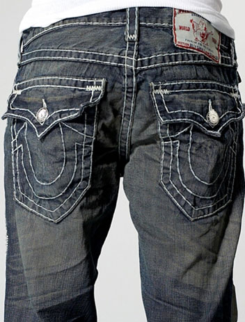 Jeans With Horseshoe On Back Pocket